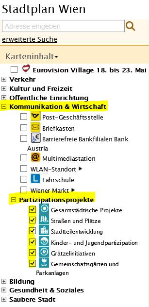 Partizipationsprojekte auf dem Stadtplan Wien