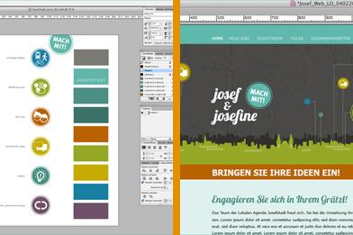 Online-Ideenplattform Designentwürfe