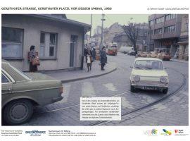GERSTHOFER STRASSE, GERSTHOFER PLATZL VOR DESSEN UMBAU, 1980 © Wiener Stadt- und Landesarchiv/PID