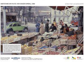 OBSTSTAND AM PLATZL VOR DESSEN UMBAU, 1980 © Wiener Stadt- und Landesarchiv/PID