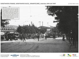 GERSTHOFER STRASSE, GERSTHOFER PLATZL, VORORTELINIE, zwischen 1904 und 1907 © Archiv Wiener Linien